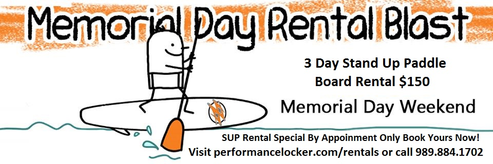 3 Day SUP Rental Special!
